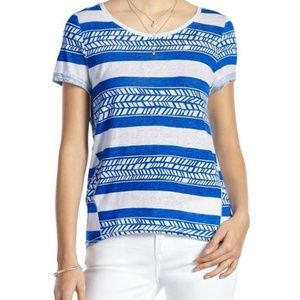 LUCKY BRAND vine stripe top graphic tee AK19